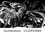black and white liquid texture. ... | Shutterstock .eps vector #1110953684