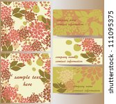 set of vector floral designs ... | Shutterstock .eps vector #111095375