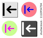 arrow. simple flat vector icon...