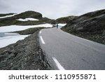 norwegian view with guy in a...   Shutterstock . vector #1110955871