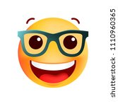 cute very happy with glasses... | Shutterstock .eps vector #1110960365