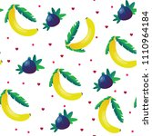 bananas and figs seamless... | Shutterstock .eps vector #1110964184