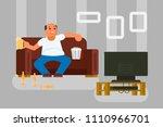 vector illustration of cartoon... | Shutterstock .eps vector #1110966701