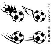 black soccer logo  | Shutterstock .eps vector #1110974744