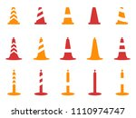 orange and red color traffic... | Shutterstock .eps vector #1110974747