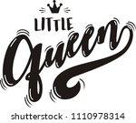 little queen lettering design | Shutterstock .eps vector #1110978314