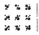 soap bubble black icons... | Shutterstock . vector #1110984944