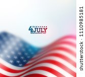 independence day of the usa... | Shutterstock .eps vector #1110985181