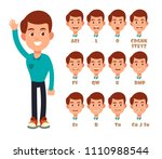 talking lips sync animation....   Shutterstock . vector #1110988544