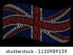 waving british state flag on a... | Shutterstock .eps vector #1110989159