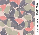 an abstract camouflage pattern... | Shutterstock .eps vector #1110990284