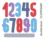 vector funky tall numerals... | Shutterstock .eps vector #1110996689