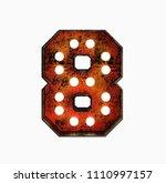 number 8. realistic rusty light ... | Shutterstock . vector #1110997157