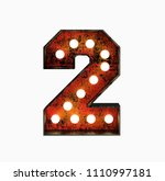 number 2. realistic rusty light ... | Shutterstock . vector #1110997181
