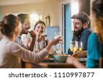 multi ethnic group of friends... | Shutterstock . vector #1110997877