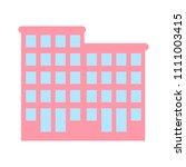 vector hotel building   modern... | Shutterstock .eps vector #1111003415