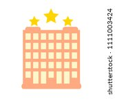 vector three stars hotel... | Shutterstock .eps vector #1111003424