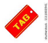 vector label   tag symbol ... | Shutterstock .eps vector #1111003541