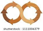 wooden infinity symbol  with...   Shutterstock .eps vector #1111006379