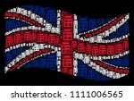 waving uk official flag on a... | Shutterstock .eps vector #1111006565