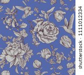 vintage vector pattern with... | Shutterstock .eps vector #1111012334
