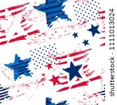 abstract seamless american... | Shutterstock .eps vector #1111013024
