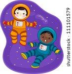 illustration of kids dressed in ... | Shutterstock .eps vector #111101579