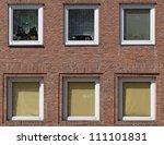 facade of an apartment building ... | Shutterstock . vector #111101831