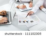 close up of business people... | Shutterstock . vector #111102305