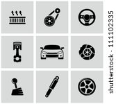 car parts icons set | Shutterstock .eps vector #111102335