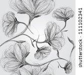 wild dog rose   seamless black... | Shutterstock .eps vector #111102341