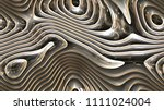 abstract curves   metal... | Shutterstock . vector #1111024004