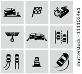 race icons set | Shutterstock .eps vector #111102461