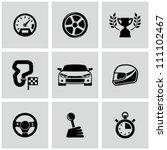 race icons set | Shutterstock .eps vector #111102467