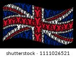 waving british official flag on ... | Shutterstock .eps vector #1111026521