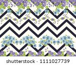 seamless colorful pattern in... | Shutterstock . vector #1111027739