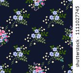 seamless ditsy pattern in small ... | Shutterstock . vector #1111027745