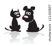 Stock vector dog and cat 111102857