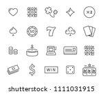 set of vector casino line icon  ... | Shutterstock .eps vector #1111031915
