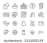 set of vector casino line icon  ... | Shutterstock .eps vector #1111032119
