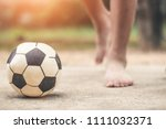 child play football old  sports ... | Shutterstock . vector #1111032371