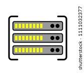 server data racks illustration  ... | Shutterstock .eps vector #1111032377