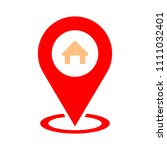 home gps   map pointer  map pin ... | Shutterstock .eps vector #1111032401