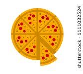 vector slice of pizza   fast... | Shutterstock .eps vector #1111032524