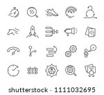 simple set of vector line icon  ... | Shutterstock .eps vector #1111032695