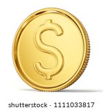 gold coin sign isolated on a... | Shutterstock . vector #1111033817