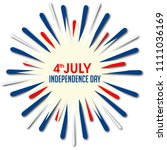 4th of july. usa independence...   Shutterstock .eps vector #1111036169