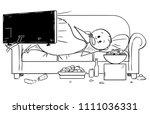 cartoon stick drawing... | Shutterstock .eps vector #1111036331