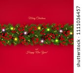 christmas and new year banner... | Shutterstock .eps vector #1111036457