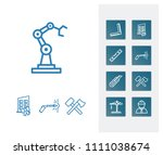 industrial icon set and new...
